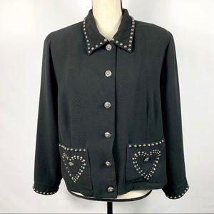 Double D Ranch Studded Blazer Jacket Sz XL